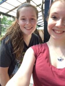 Hannah at the Zoo with Sarah B